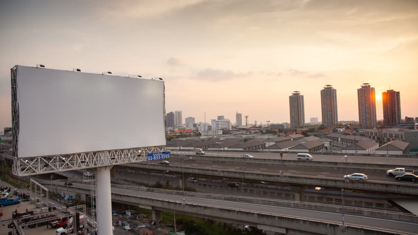 Bangkok, Thailand - March 28, 2017:Timelaps day to night Traffic on express way in Bangkok , Thailand | Shutterstock HD Video #26808121