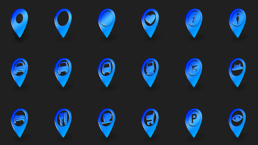 Stock Video Clip Of Icon Set, Pack 18 Animated Video PNG