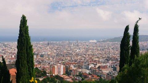 Barcelona City Skyline, Cityscape Scenic