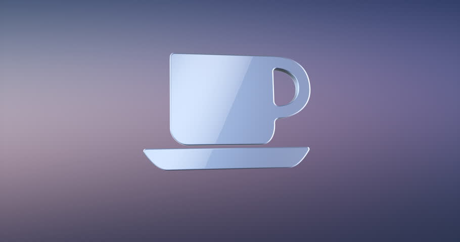 Animated Office Mug Silver 3d Icon Loop Modules for edit with alpha matte | Shutterstock HD Video #26875573