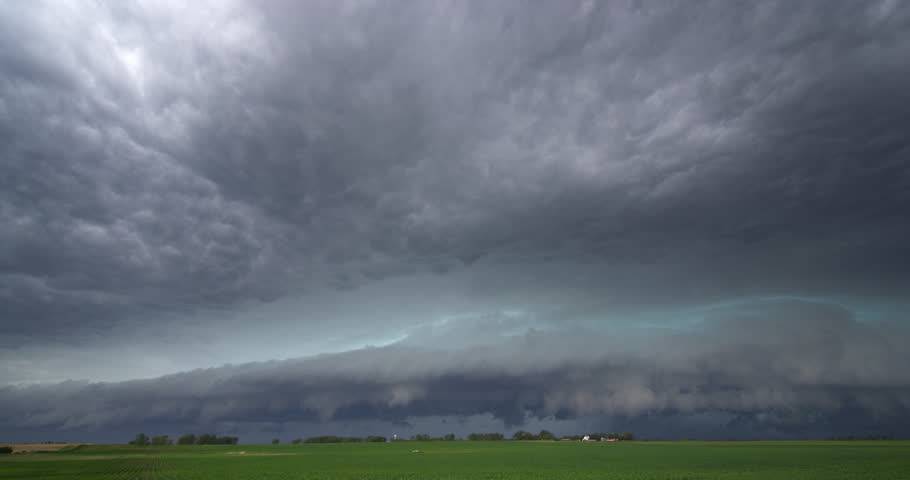 Time-lapse storm clouds over a farm in South Dakota | Shutterstock HD Video #26928499