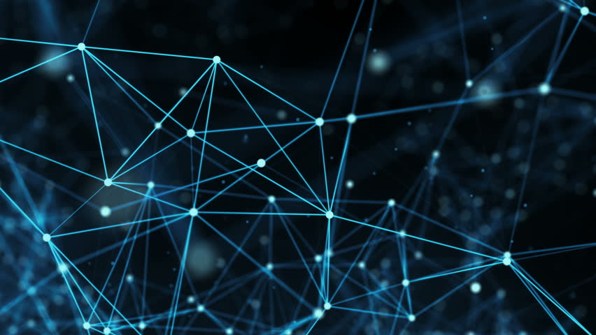Abstract digital data nodes and connection paths within any type of network or system of networks. Animation for visuals, vj, light presentations or as motion background. Seamless Loop. 4k | Shutterstock HD Video #27005299