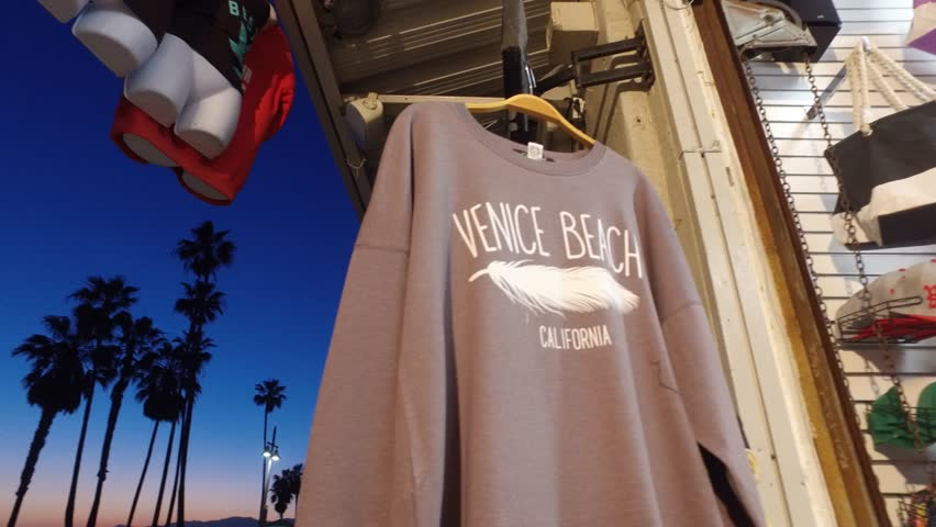 The S At Venice Beach Souvenirs On Los Angeles California April 19 2017