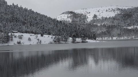 Abant lake in winter