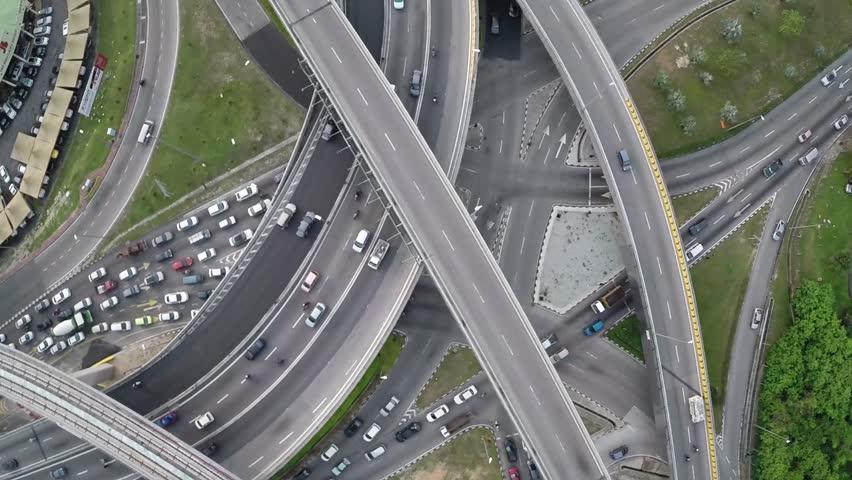 Ariel of Kuala Lumpur Traffic | Shutterstock HD Video #27047329