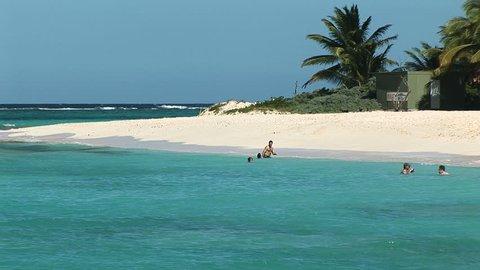 SINT MAARTEN - Circa 2008: Anquila Beach in Sint Maarten on a clear day