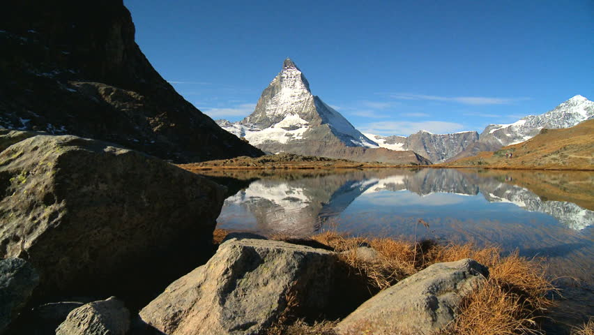 Inspiring view & reflection of the Matterhorn in Switzerland