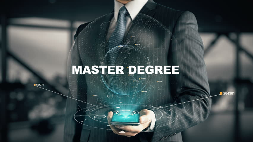 Businessman with Master Degree hologram concept | Shutterstock HD Video #27057019