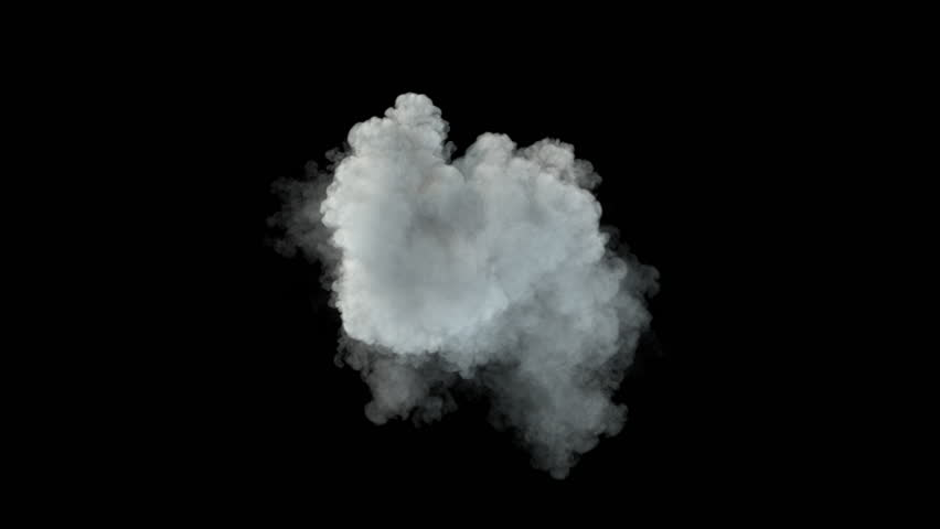Middle size smoke puff / dust puff (with alpha channel). Separated on pure black background. | Shutterstock HD Video #27068029
