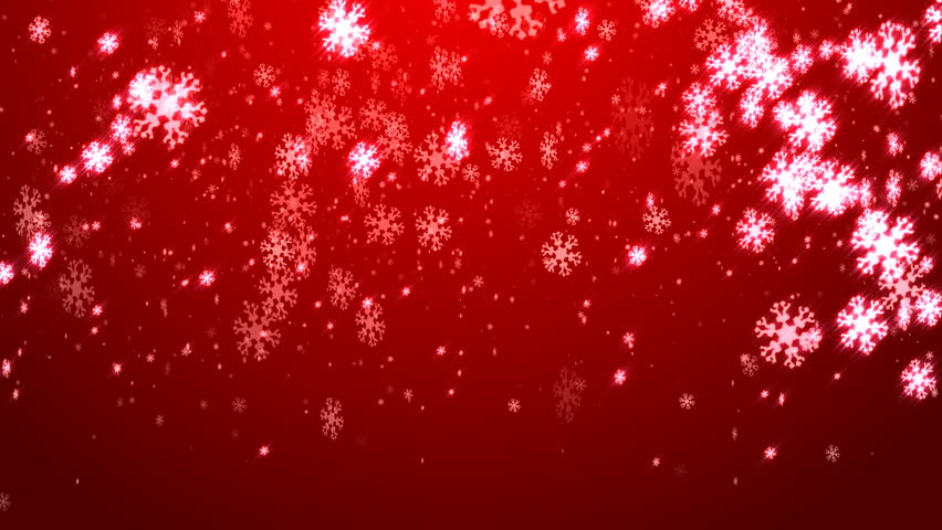 Digital Seamless Loop Christmas Red Background With White