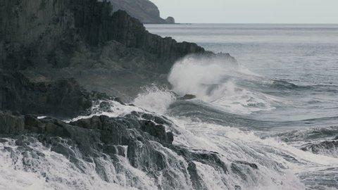 rocky shore in the ocean