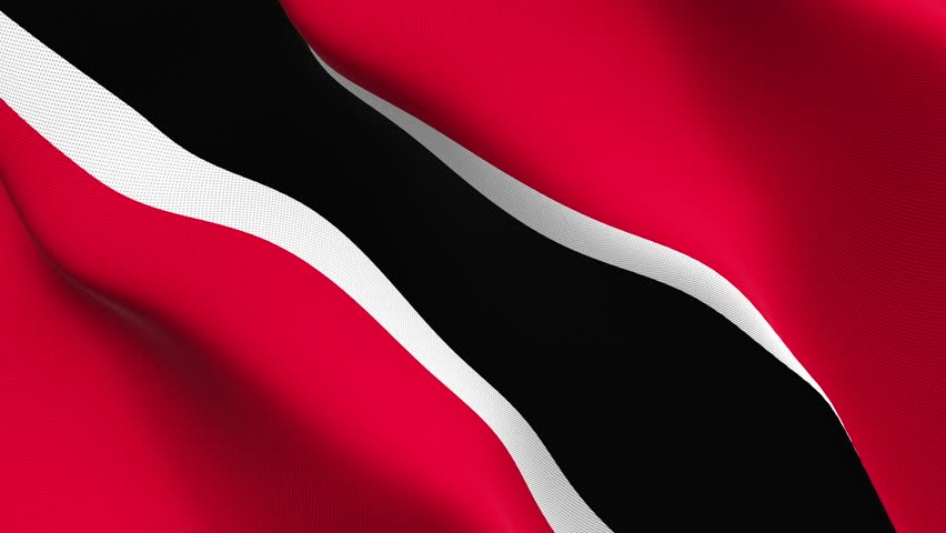 Trinidad and Tobago flag waving seamless loop in 4K and 30fps. Trinidad and Tobago loopable flag with highly detailed fabric texture. | Shutterstock HD Video #27152029