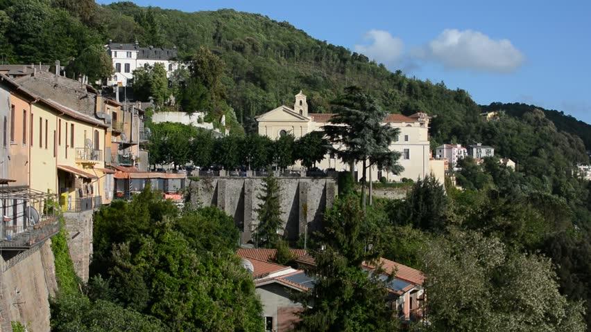 Nemi, a small village in lazio, italy