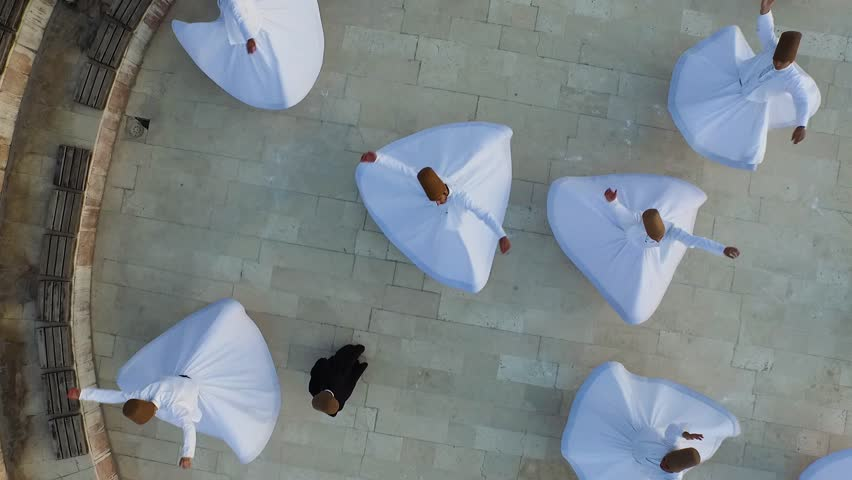 Aerial view of the konya in Turkey