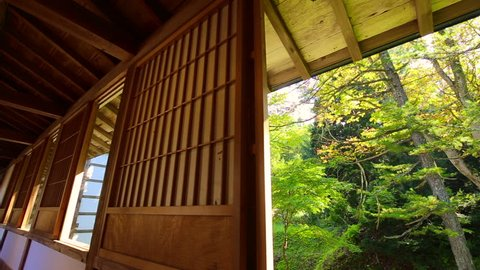 Light and shadow of tradition japanese house.