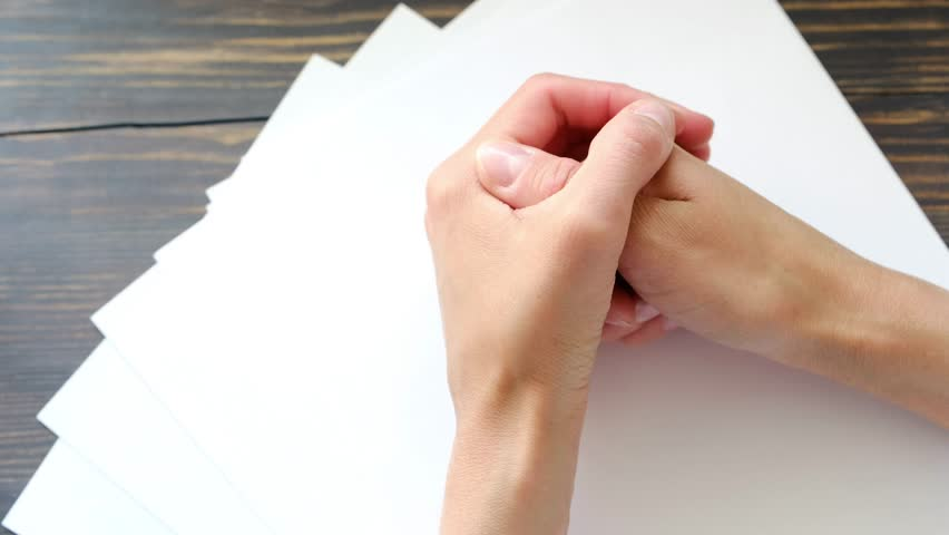 Female hands on the workplace, waiting gesture | Shutterstock HD Video #27289609