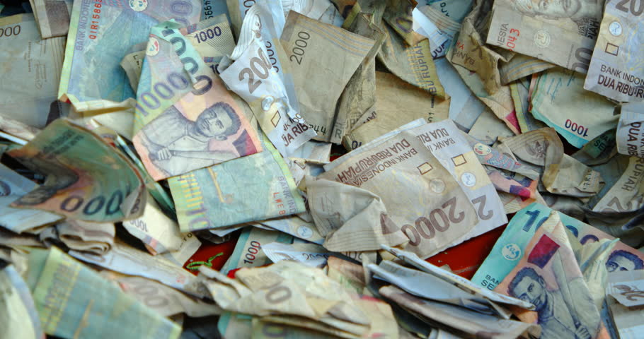 Pile Of Indonesian Bank Notes Stock Footage Video 100 Royalty