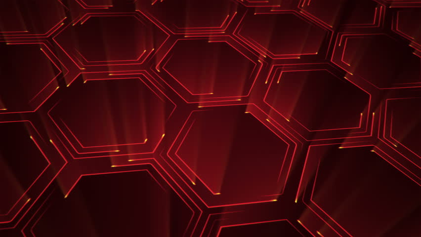 Abstract technologic background with stripes and particles. Animation of circuit electric signal with light shine. Animation of seamless loop. | Shutterstock HD Video #27422719