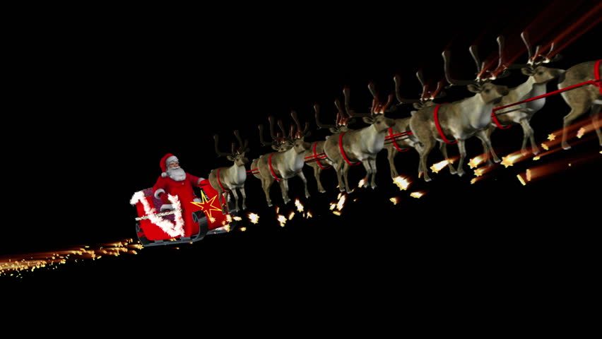 Image result for santa driving sleigh