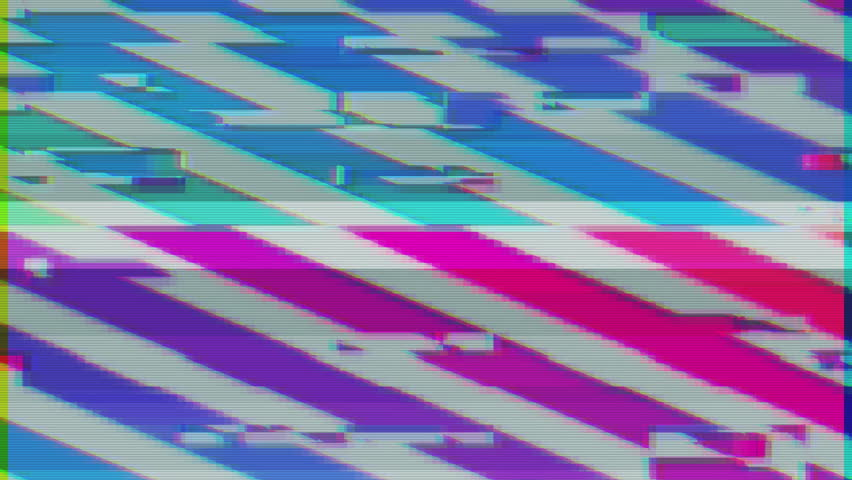 Unique Design Abstract Colorful Noise Glitch Video Damage