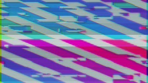 Unique Design Abstract Colorful Noise Glitch Video Damage
