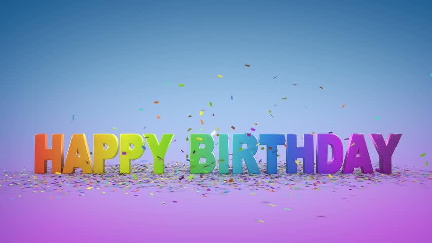 happy birthday 3d animation の動画素材 完全ロイヤリティフリー