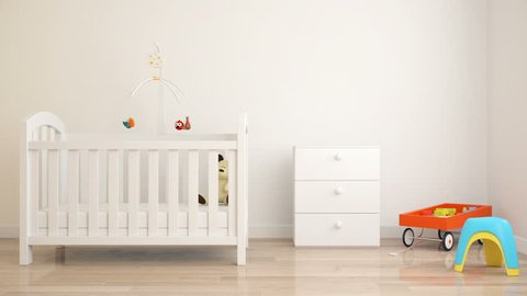 Baby's room with a crib