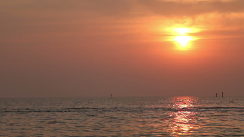 Beautiful sunset at the beach | Shutterstock HD Video #27550159