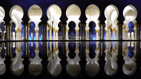 Abu Dhabi. Sheikh Zayed Bin Sultan Al Nahyan Mosque, Abu Dhabi, United Arab Emirates, UAE