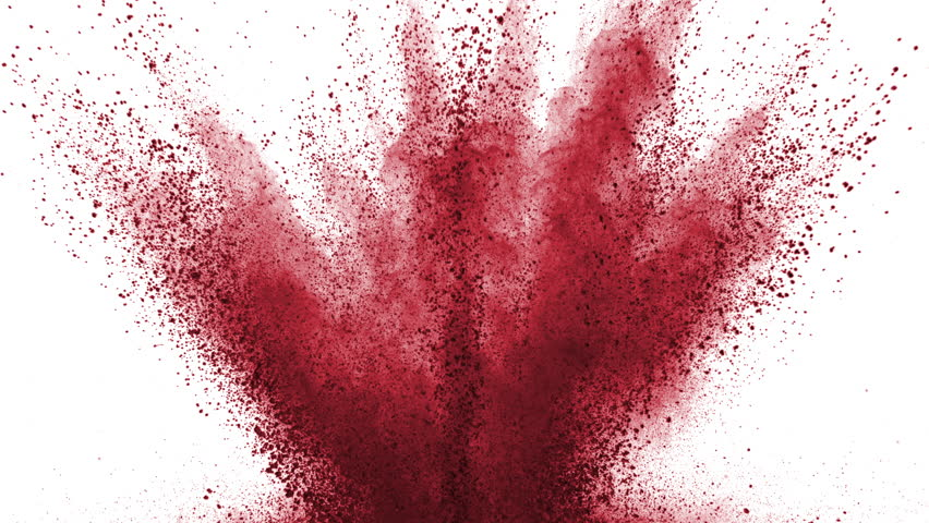 Red powder exploding on white background in super slow motion, shot with Phantom Flex 4K | Shutterstock HD Video #27565801