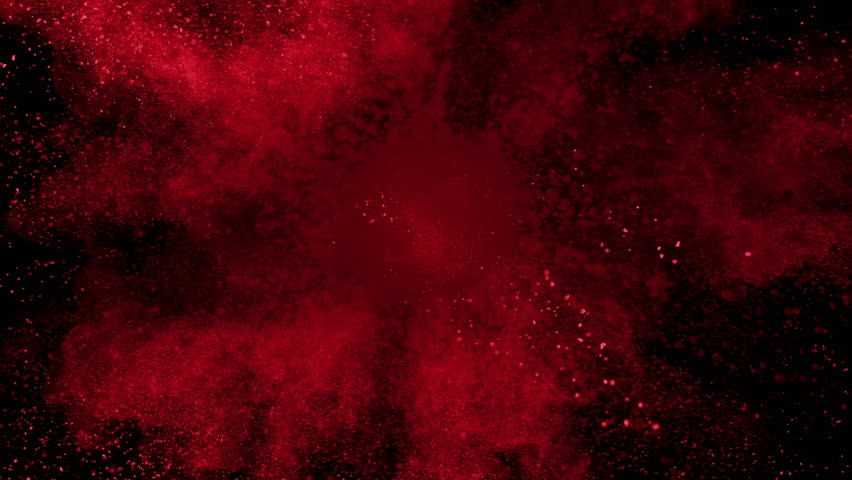 Red Powder Exploding On Black Stock Footage Video 100