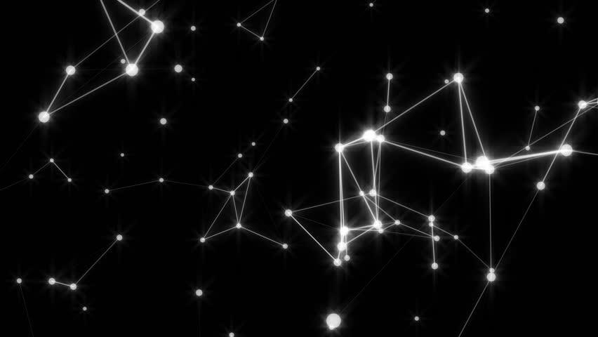 Fantasy star constellation molecules animated background | Shutterstock HD Video #27702859