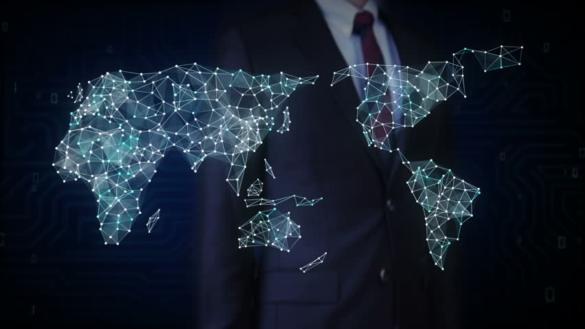 Businessman touching screen, Car internet of things technology icon connect global world map, dots makes world map. internet of things. | Shutterstock HD Video #27742369