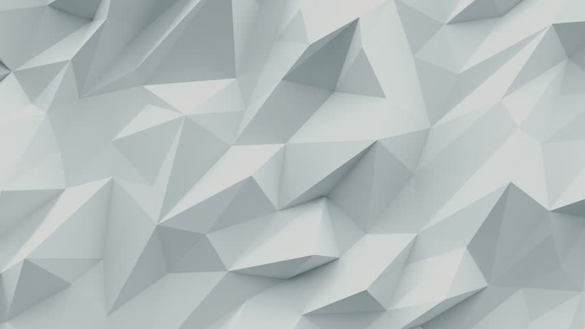 White abstract background. Low poly 3d triangle texture. | Shutterstock HD Video #27746209