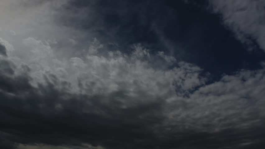 A time-lapse of ominous clouds rolling in as the sky darkens | Shutterstock HD Video #2775479