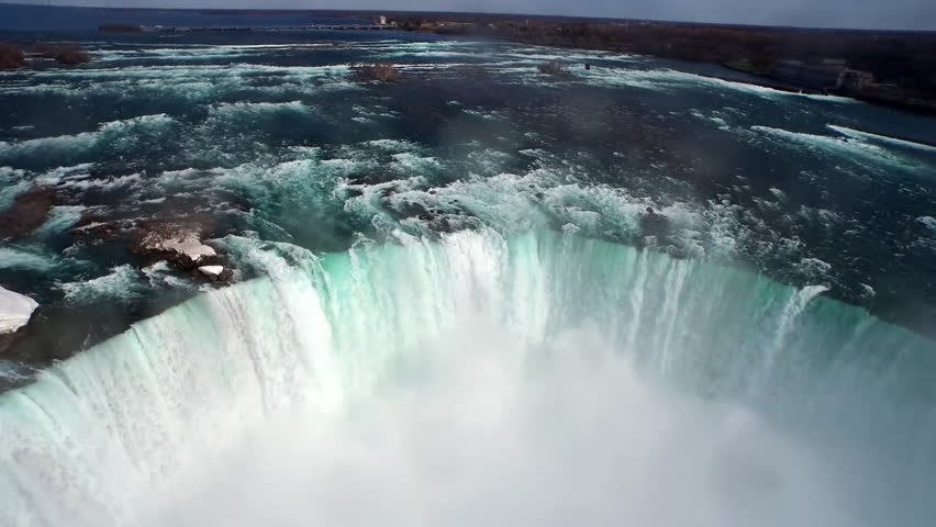 Aerial view of North America's Magnificent Niagara Falls on the border of Canada | Shutterstock HD Video #27765880