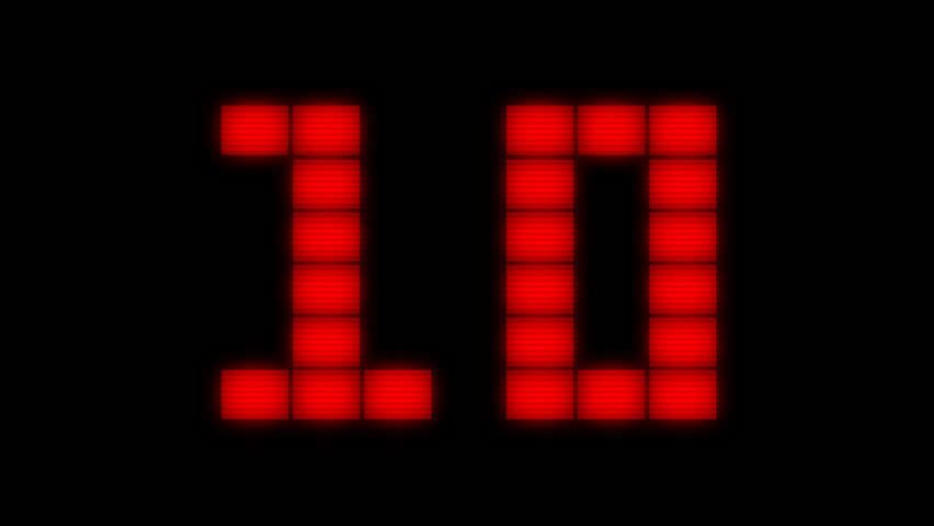 Red light countdown with transparent background | Shutterstock HD Video #27771319