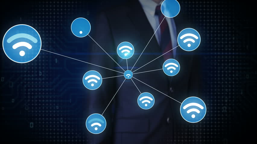 Businessman touching screen, Wireless technology icon connect global world map. dots makes world map, internet of things. | Shutterstock HD Video #27780619