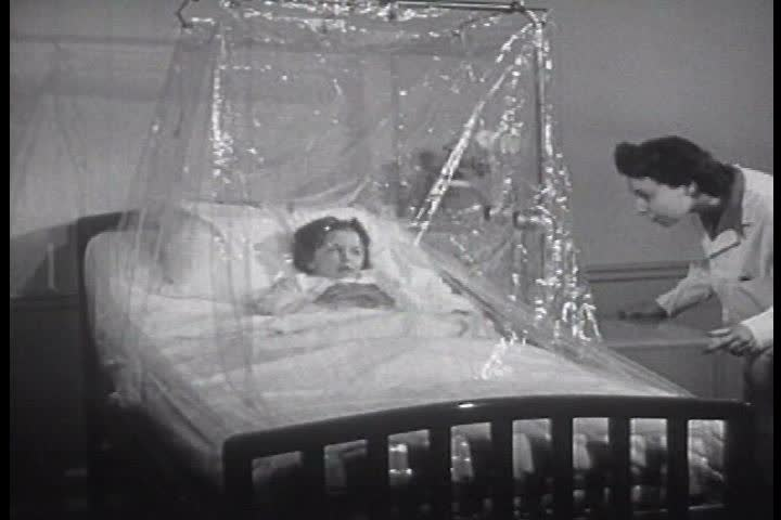 1940s: Children Suffer Illnesses in Stock Footage Video (100