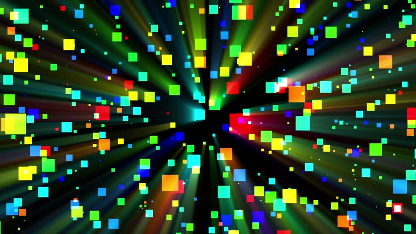 Colorful Squares, Pixels, Swirl Swarm Rays Abstract Motion Background Loop 5. Animation. | Shutterstock HD Video #27827389