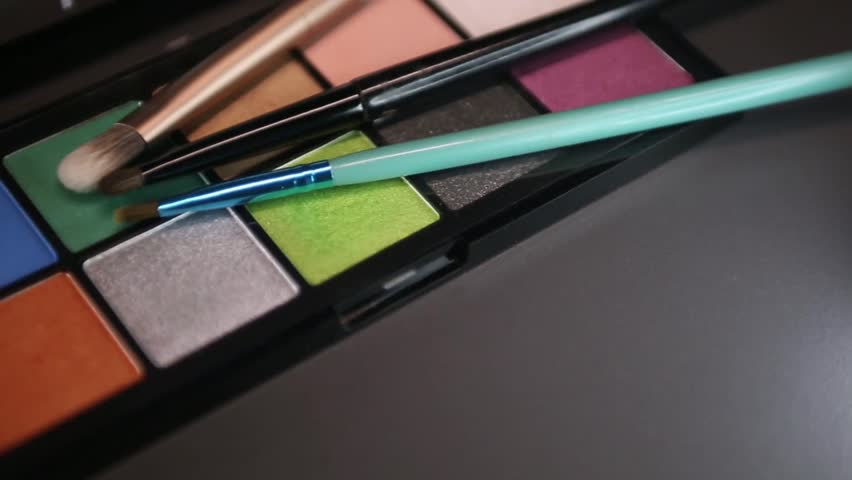 Footage of a make up palette-the shot is moving from the right to the left side... | Shutterstock HD Video #27834079