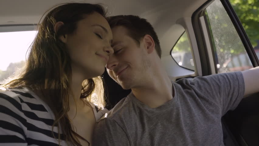Cute Couple Cuddle And Kiss Stock Footage Video 100 Royalty Free
