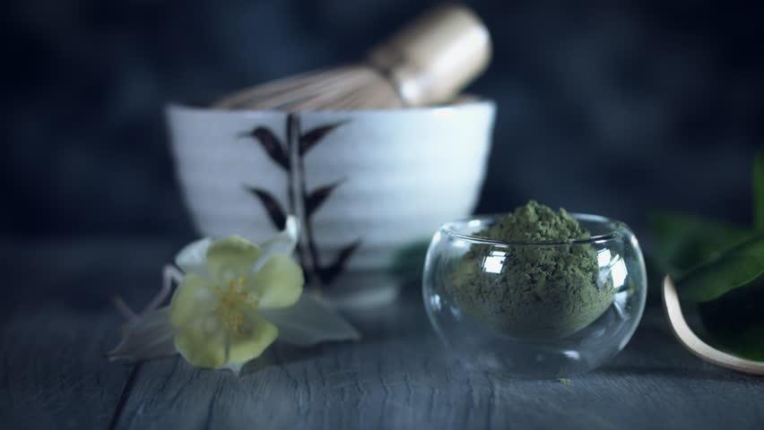 4k Matcha Tea Composition, dolly shot | Shutterstock HD Video #27901279