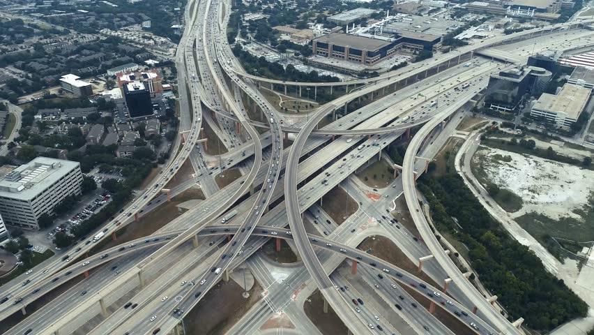 First Five-Level Interchange Highway in Dallas, Texas, USA