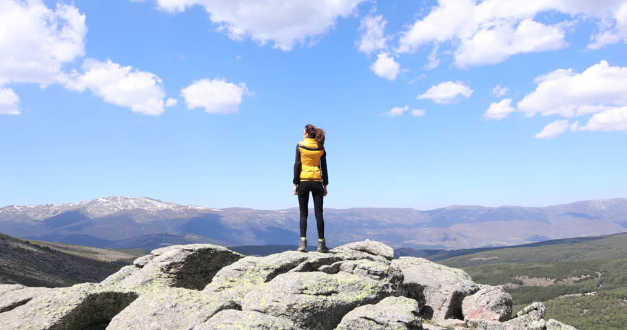 a806b1dc280e Sport Hiking or Trekking Woman Stock Footage Video (100% Royalty-free)  27903649   Shutterstock