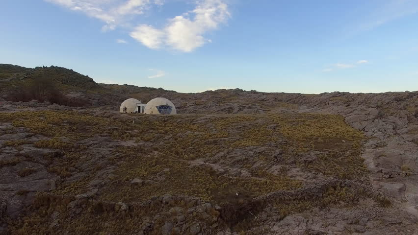 Geodesic domes on Mount Champaqui, Cordoba Province, Argentina | Shutterstock HD Video #27946999