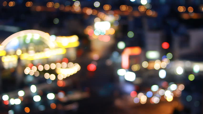 City at night background with cars. Out of focus background with blurry unfocused city lights. Bangkok, Thailand. Concept for a background. | Shutterstock HD Video #28004929