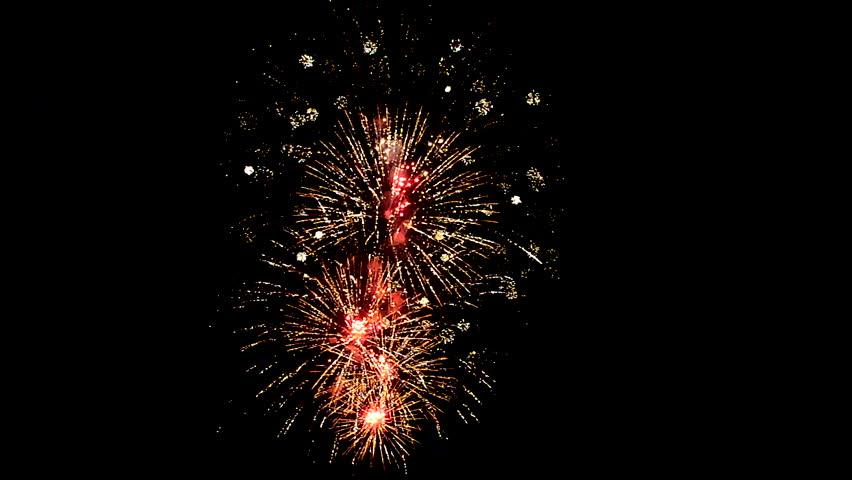 Fireworks at the Rheinfall in Schaffhausen CH