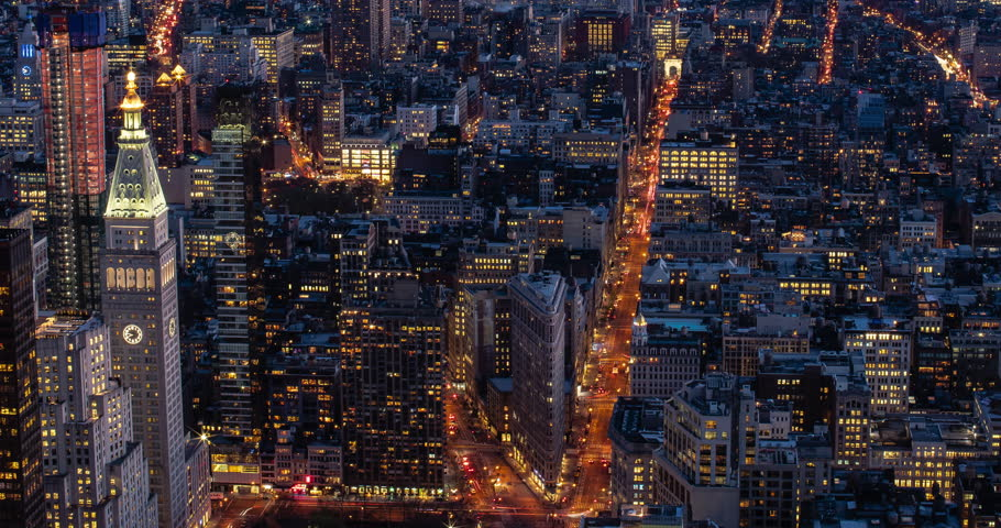 Timelapse of downtown New York City (Manhattan) at dusk  | Shutterstock HD Video #28153201