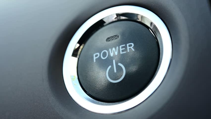 Pushing a power button in modern car  | Shutterstock HD Video #2815372